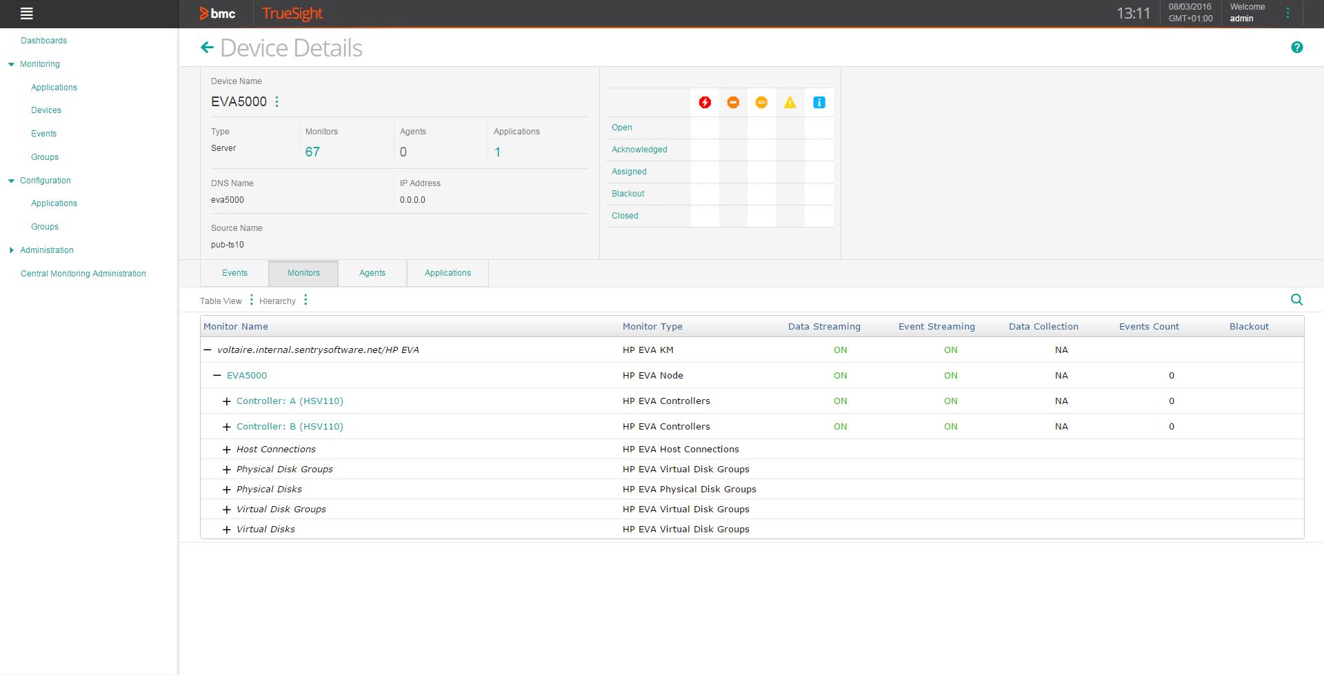 HP EVA KM | Sentry Software