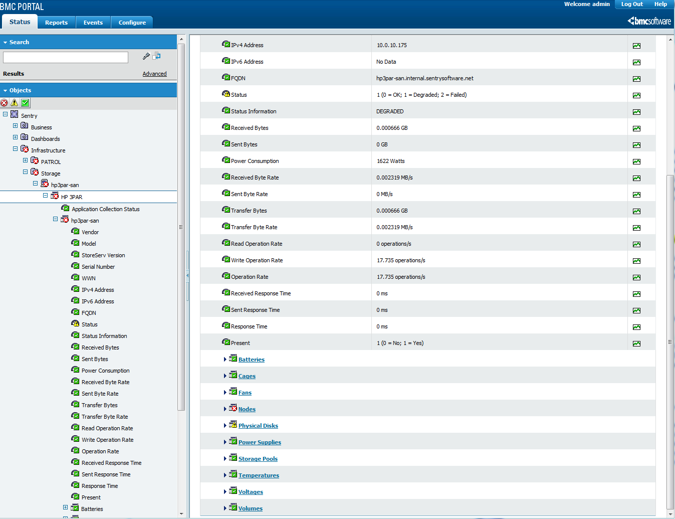BMC Performance Manager Express for HP 3PAR | Sentry Software